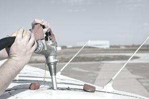 Pilot Fueling Small Private Airplane Wing Tank