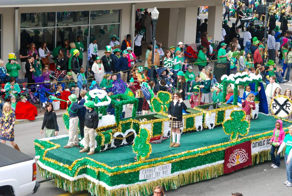Savannah's St. Patrick's Day Taken from our office window on Broughton Street.