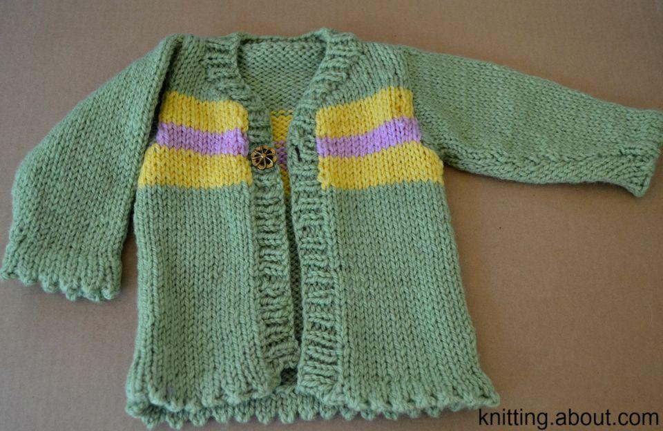 A superwash wool baby sweater