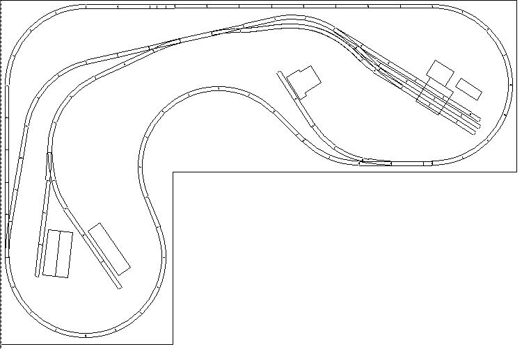 ho scale  u0026quot lakeshore southern u0026quot  railroad track plan