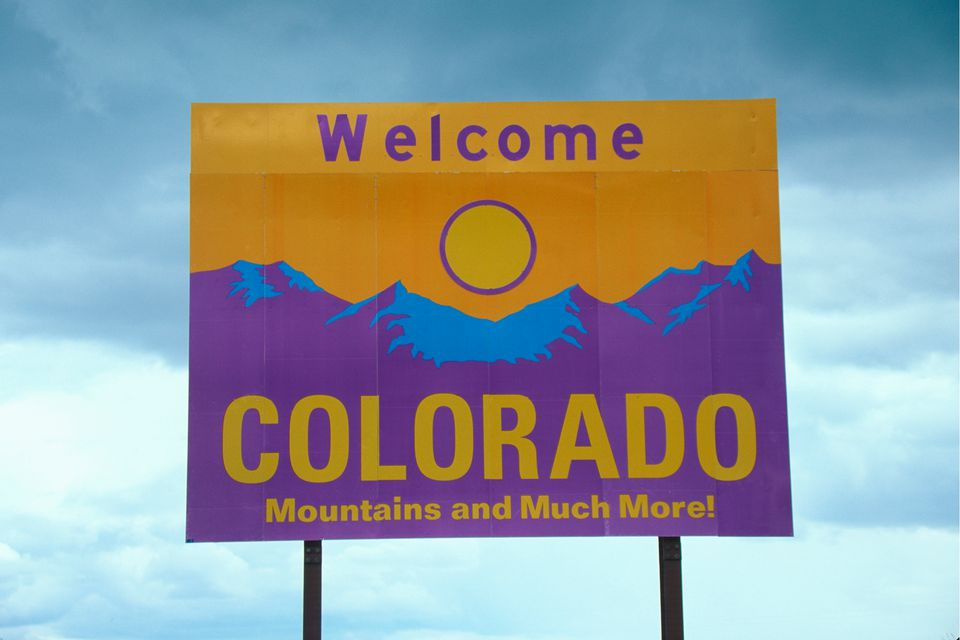 Welcome to Colorado highway sign