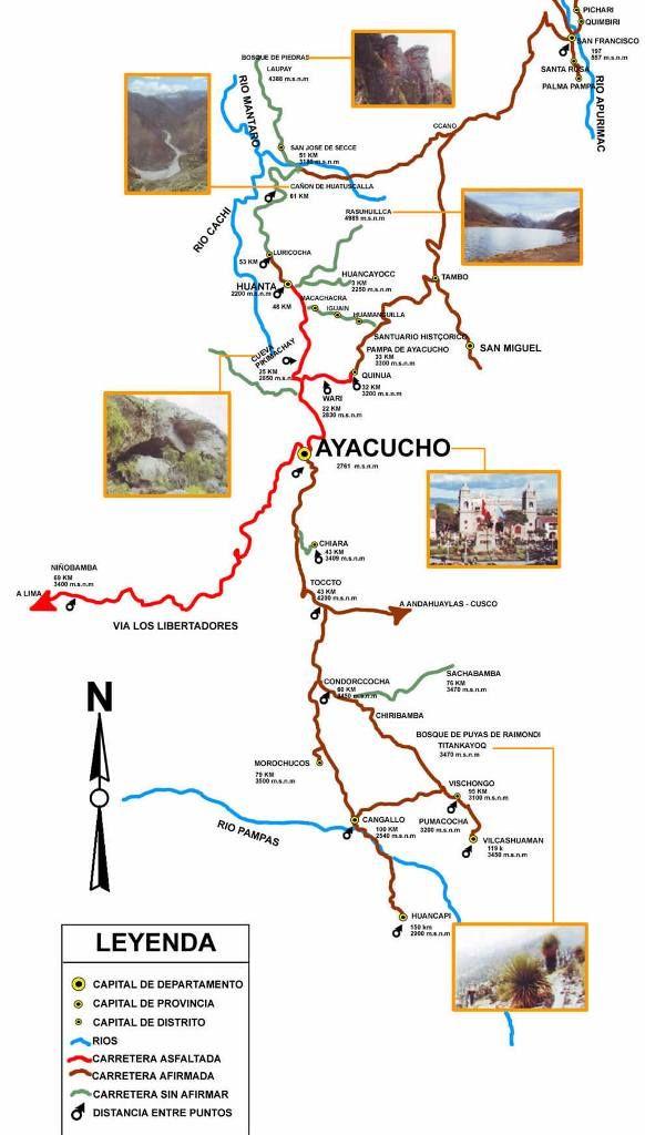 Circuito Turistico Ayacucho : Mapas del perú turismo