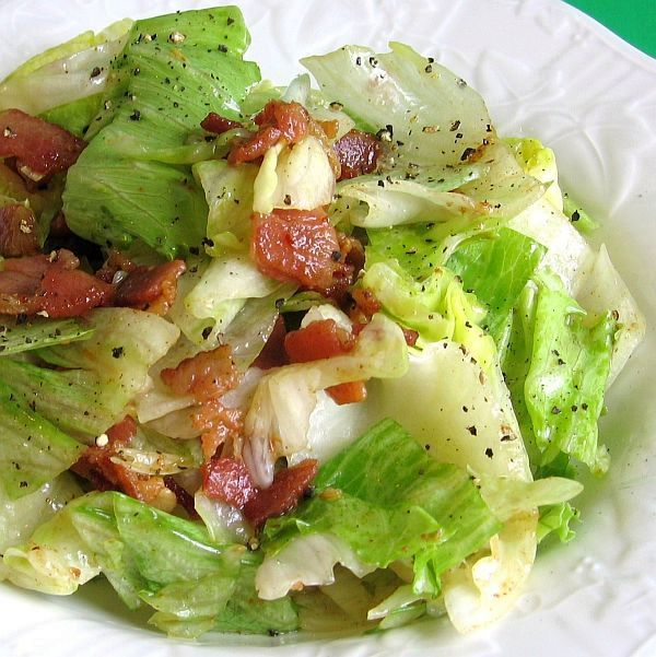 Polish Wilted Lettuce Salad