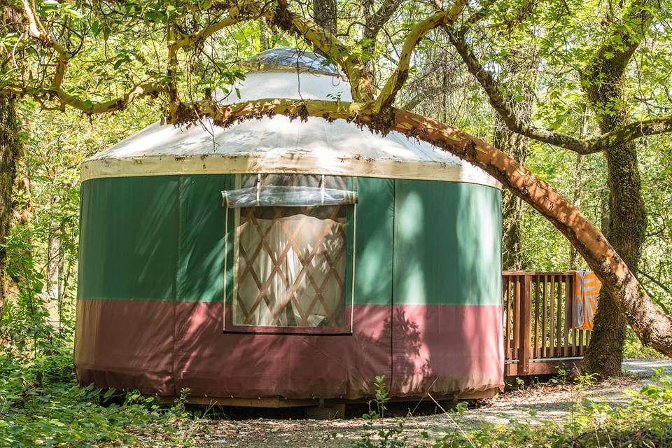 Camping Yurt at Bothe Napa Valley State Park