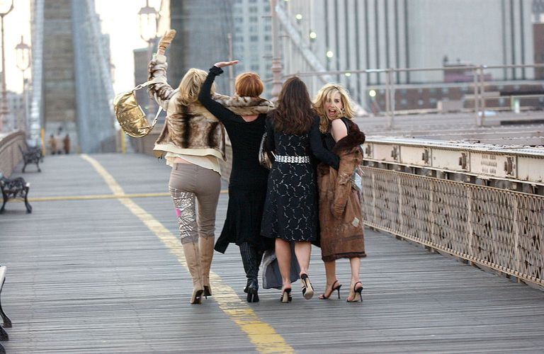 Sex and the City Promo Shoot with Kim Cattrall, Cynthia Nixon, Kristin Davis and Sarah Jessica Parker