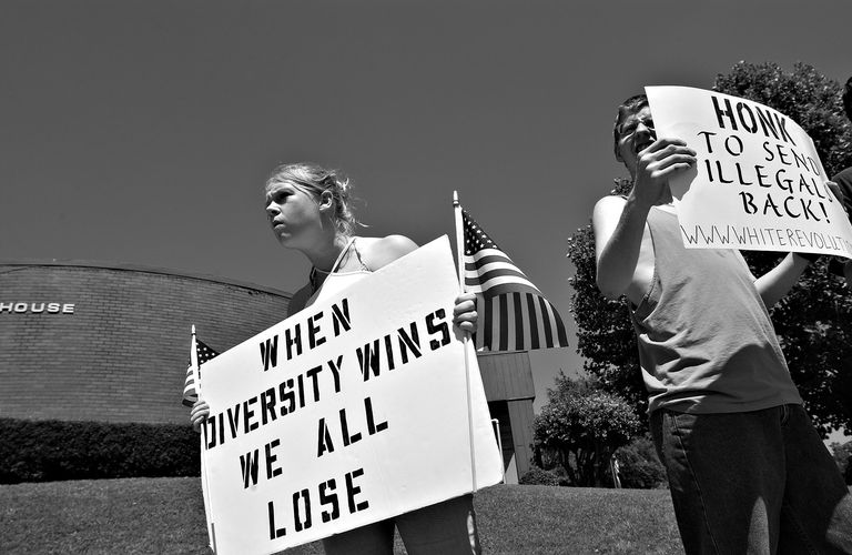 Critics of diversity express racism in their protests.
