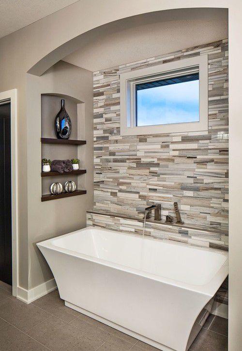 bathroom inspiration standalone tub tile calm - Contemporary Bathrooms