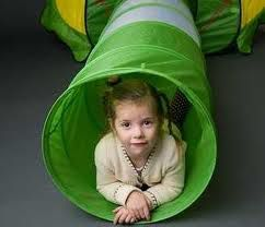 kid in tube