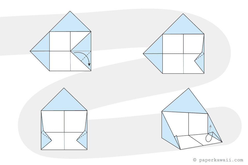 Origami House Instructions - Step 4