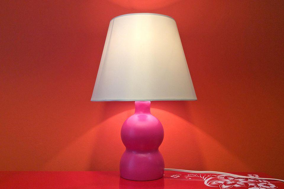 Pom bottle table lamp deidre sullivan the spruce