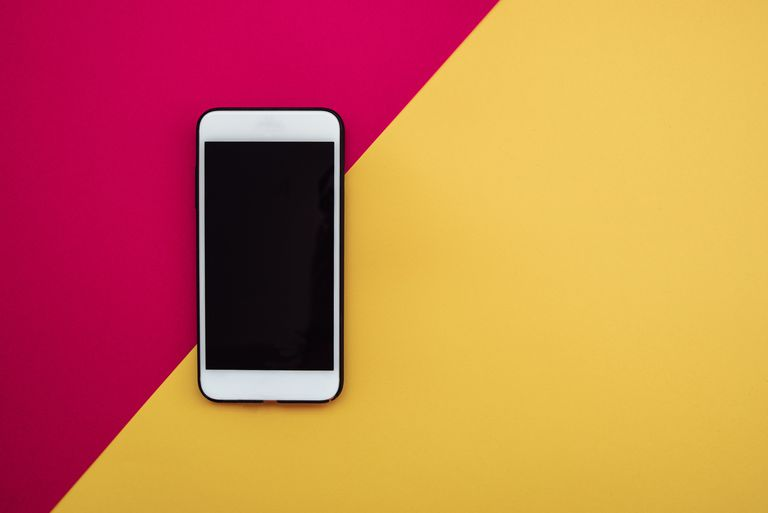 Smartphone on colorful background