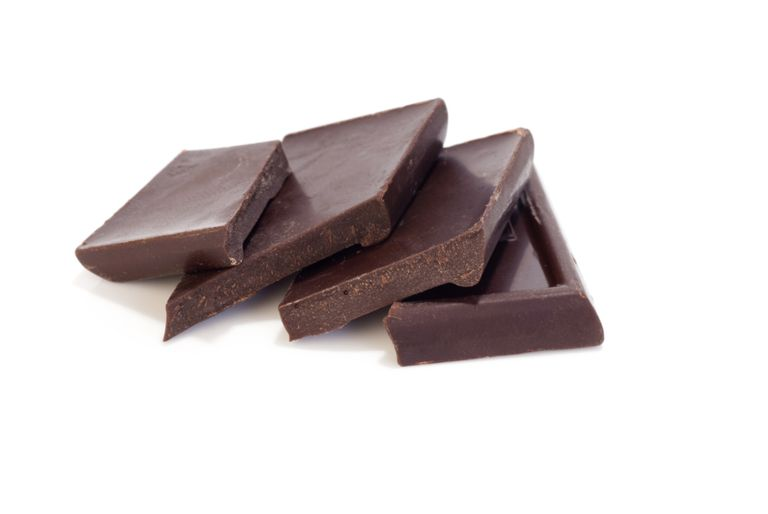 Dark chocolate has antioxidants but is also high in sugar and fat.