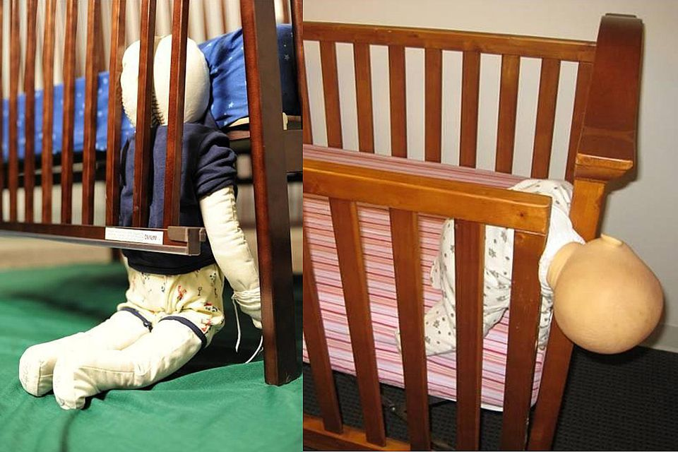 The US Consumer Product Safety Commission Released These Photos That Illustrate Danger Posed By Broken Drop Side Cribs More Than 30 Babies And