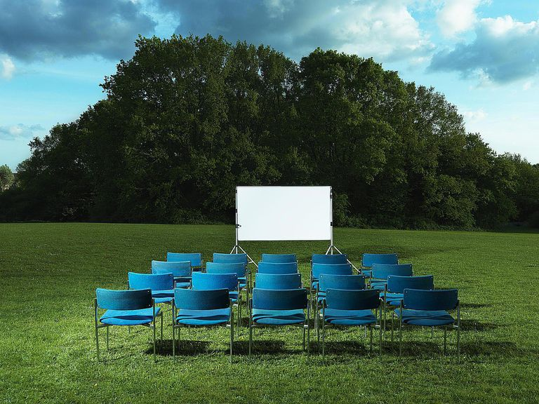 Outdoor Class with Movie Screen