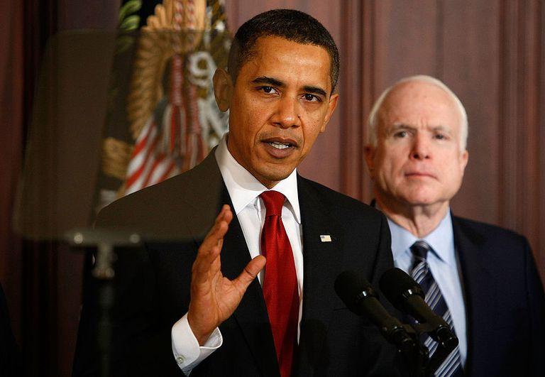 Barack Obama and John McCain in 2008