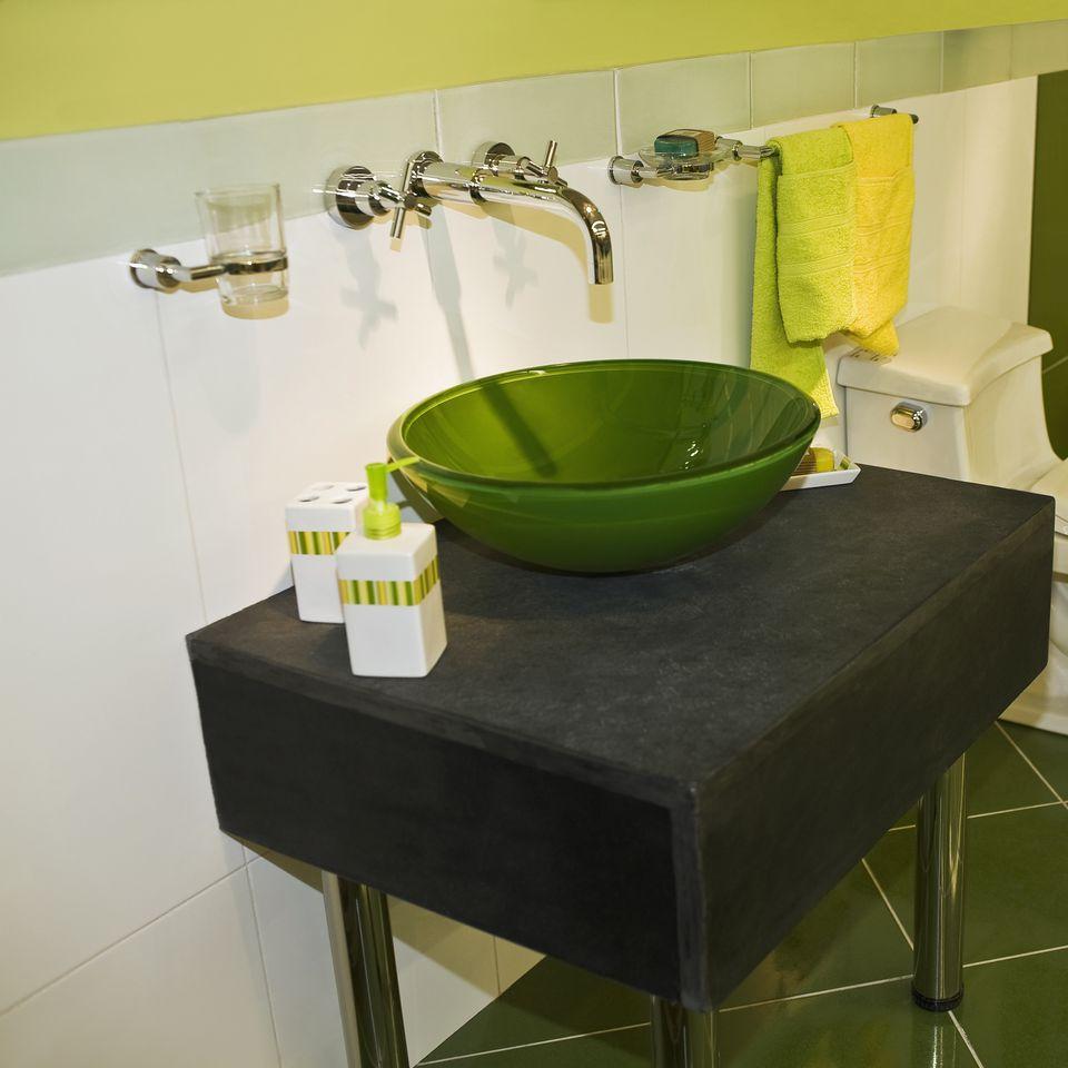 Vessel Sink in Bathroom