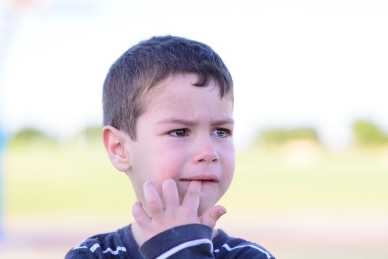 A crying preschooler.