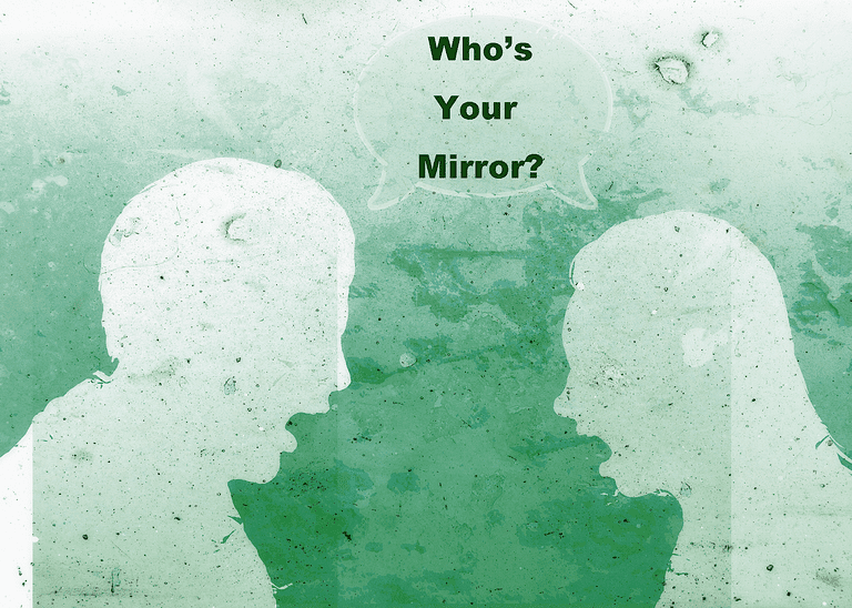 Man and Woman Mirror Image