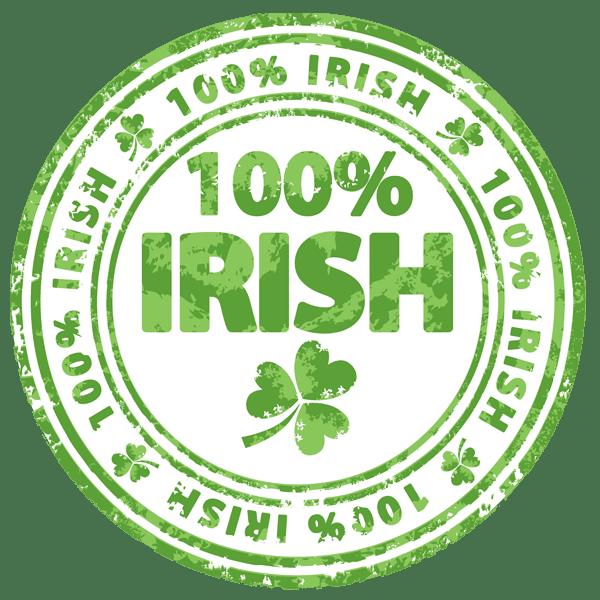Clip Art of a 100 Percent Irish Badge