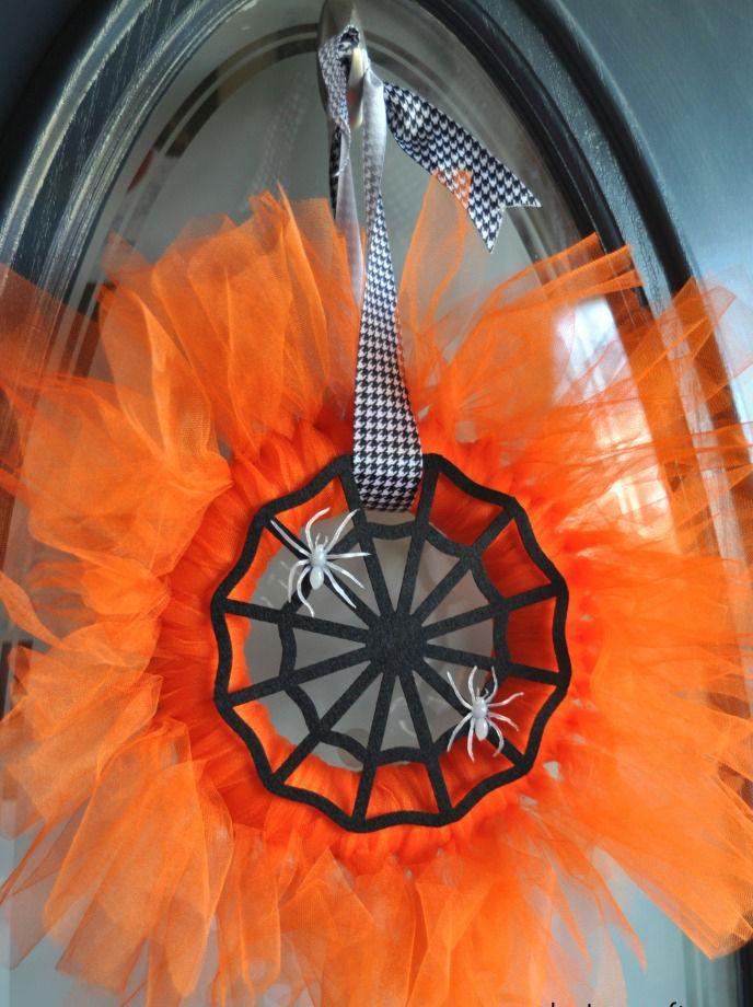 DIY Spider Web Wreath