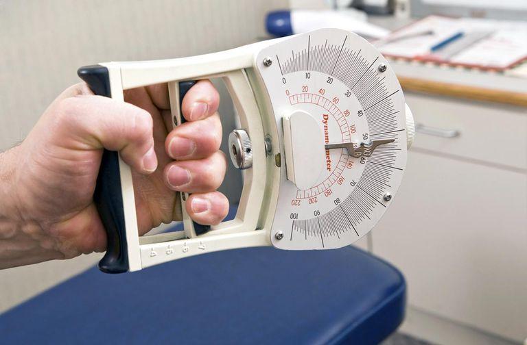 Dynamometer Hand Grip Strength Test