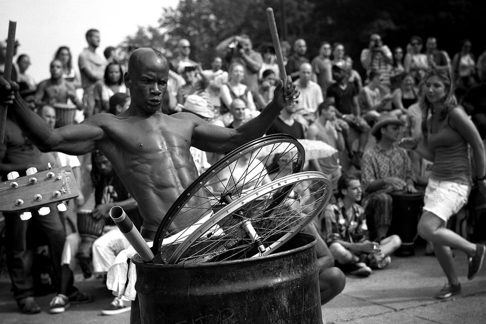 Montreal's Tam Tams, an weekly drum and dance event in Mount Royal Park every Sunday.
