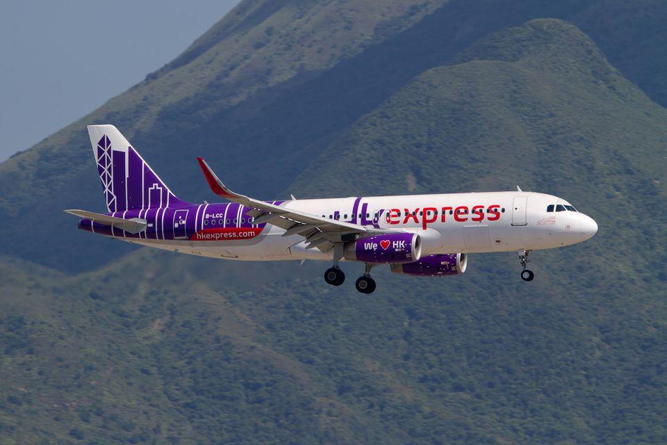Hong Kong express plane in Hong Kong