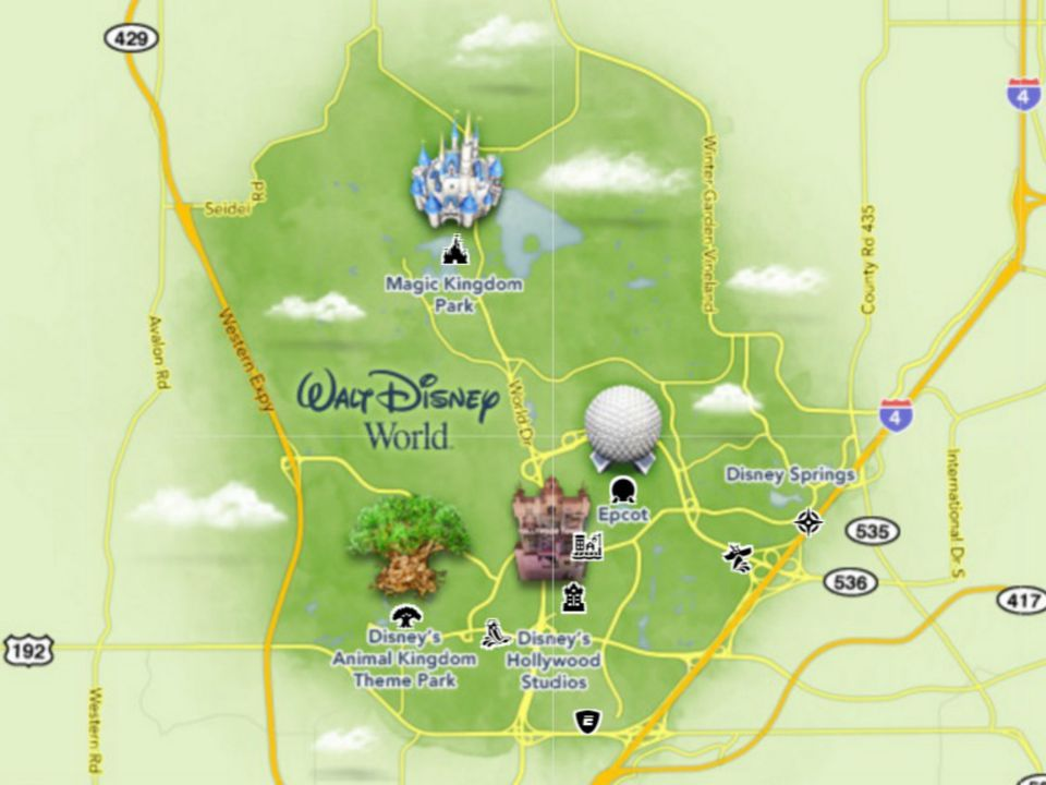Maps of Walt Disney Worlds Parks and Resorts