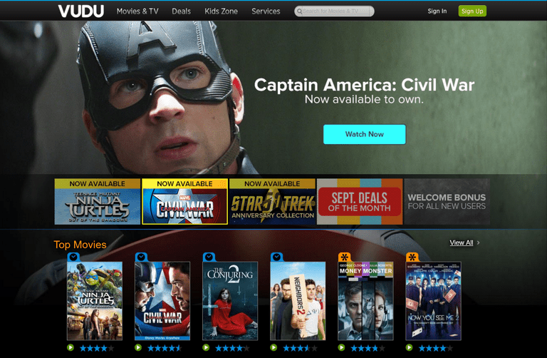 Vudu screenshot