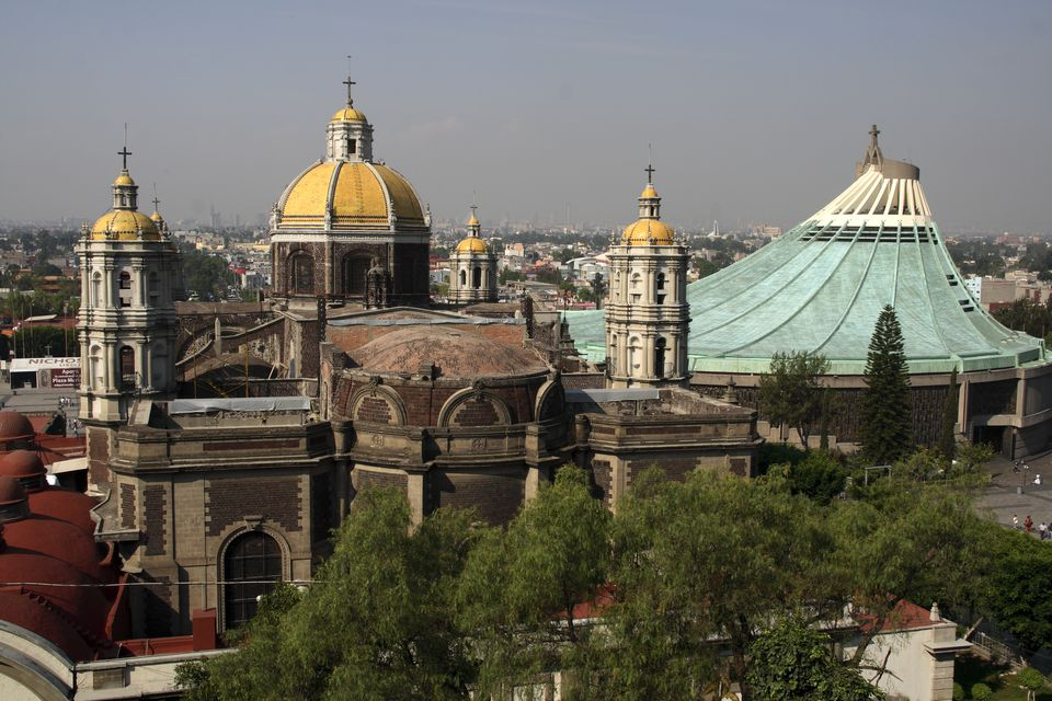 Mexico, Mexico City. The Basilica of Guadalupe, considered to be the second most important sanctuary of Catholicism after the Vatican City.