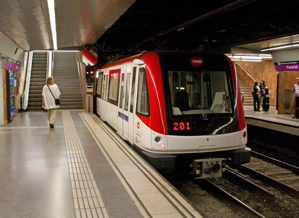 Train in the metro train network