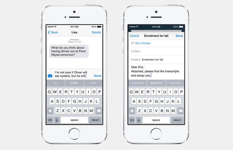 iOS 8 Keyboard