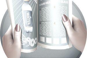 illustration of person opening magazine