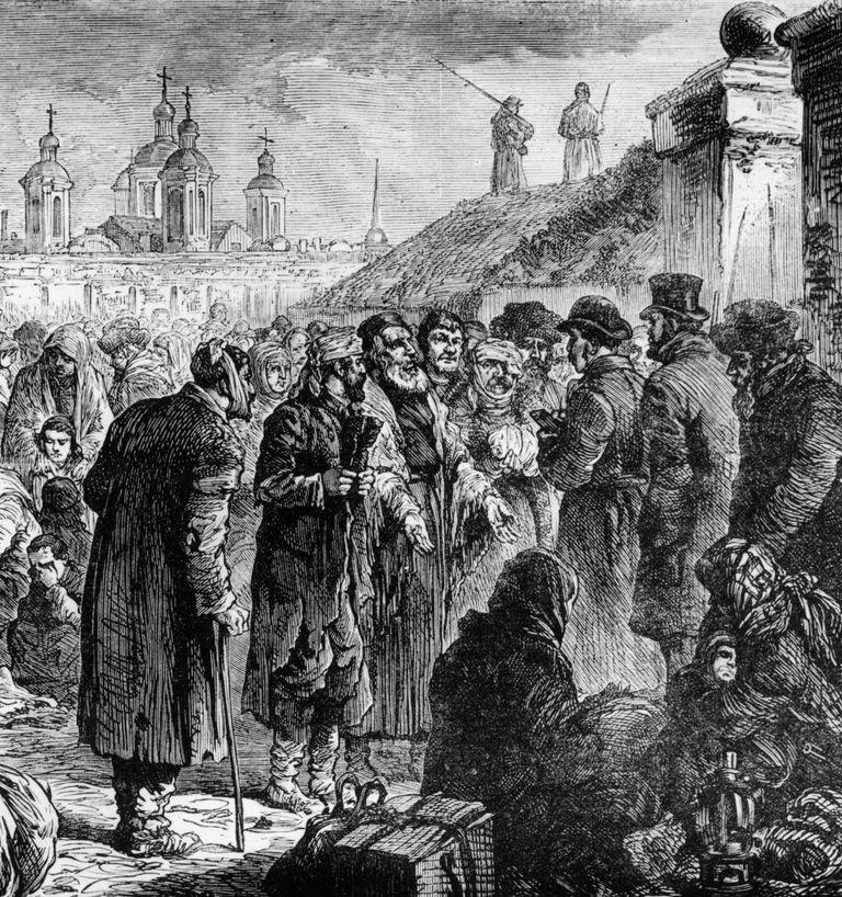 Jews kept in arsenal in Kiev, Ukraine, in first pogrom