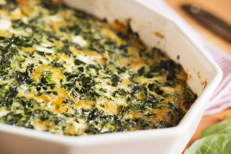 Spinach Casserole with Cheese