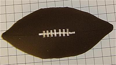 Sewing Pattern Football Pillow: Free Pattern and Directions to Sew a Football Pillow,