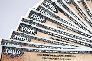 Fan of $1000 US Savings Bonds