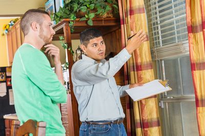 Image result for homeowner inspecting home images