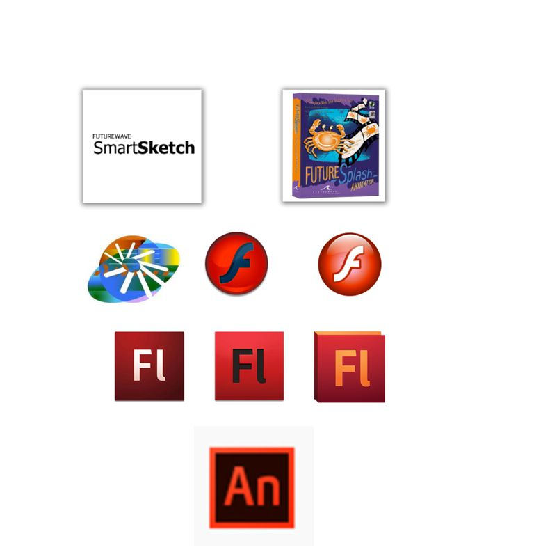 The name and logo changes from SmartSketch to Adobe Animate CC are shown.
