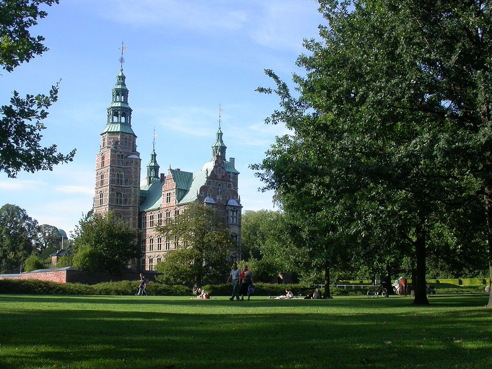 The King's garden at the Rosenborg Castle.