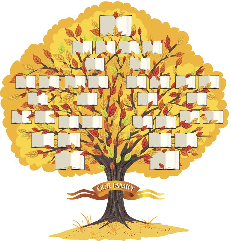 An illustration of a family tree represents the family-like nature of central sensitivity syndromes.