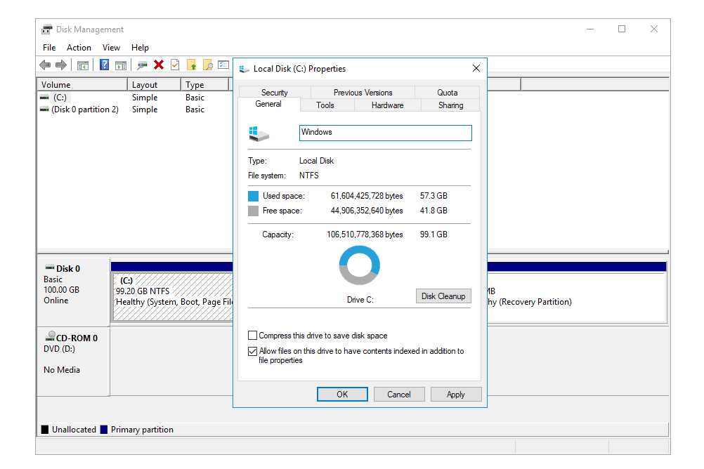 How to find a drives volume label or serial number screenshot showing how to view and change the volume label through disk management ccuart Gallery