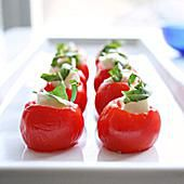 Mozzarella Stuffed Cherry Tomatoes