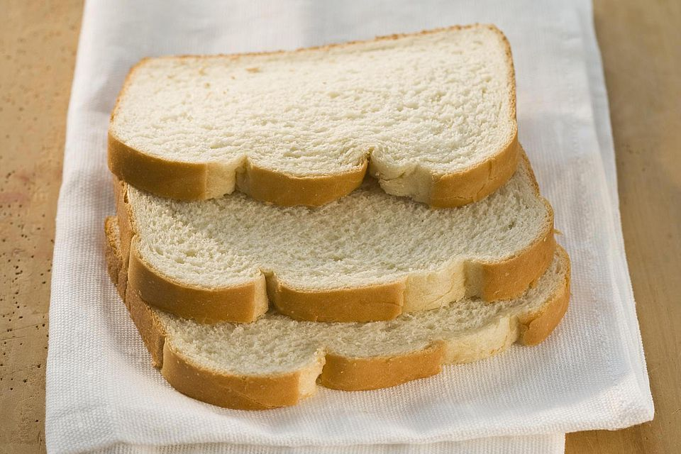 Slices of white bread