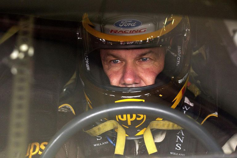 LOUDON, NH - JULY 24: Dale Jarrett, driver of the #88 UPS Ford, during practice for the Siemens 300 on July 24, 2004 at the New Hampshire International Speedway in Loudon, New Hampshire.