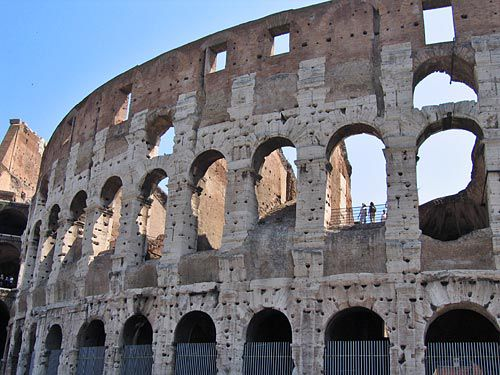 roman colosseum picture, exterior arches