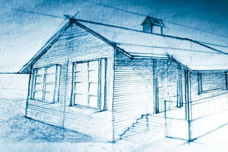 Tiltshifted sketch of a cottage
