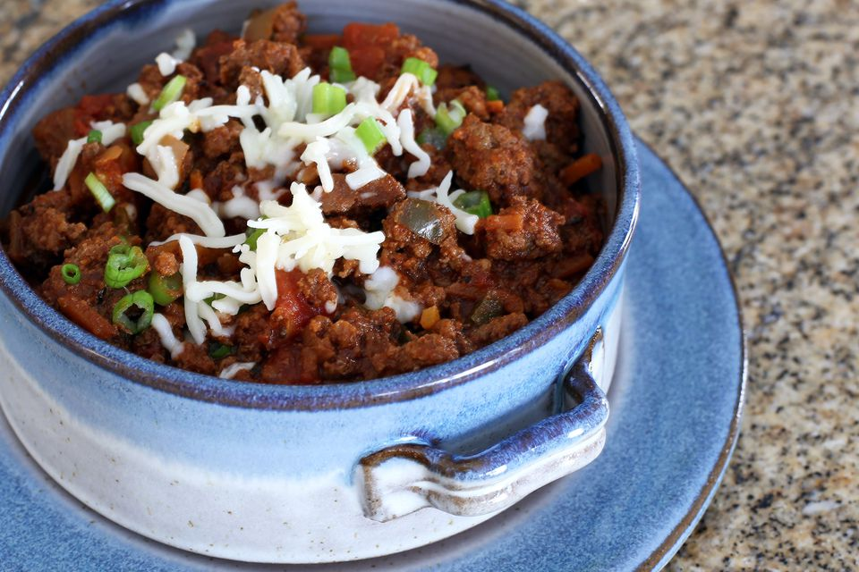 Crock Pot No Bean Chili