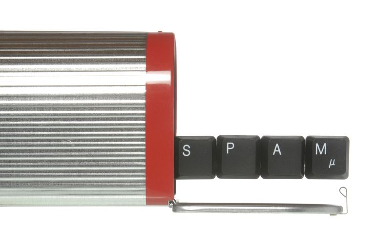 American mailbox with keyboard buttons that spell spam