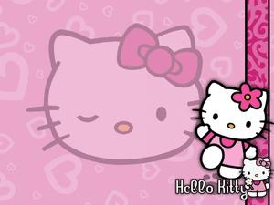 Pretty In Pink Hello Kitty Wallpaper